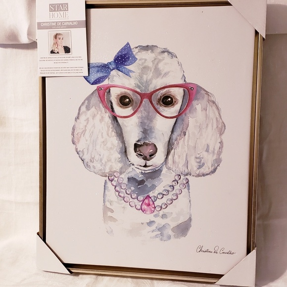 Star Home Decor Christine De Carvalho Other   New Poodle Canvas Wall ...